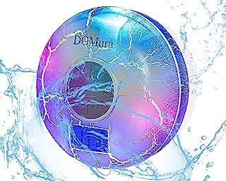 Bluetooth 防水 スピーカー ラジオ DGMura FM 2600mA 大容量バッテリー IPX7防水 お風呂 吸盤式スピーカー 高音質 ワイヤレス ブルートォーススピーカー ハンズフリー 通話 時計設置 LEDライト マイク搭載 長時間 10時間以上連続再生可能 ノーマル ホワイト プレゼント パソコン 車 アウトドア
