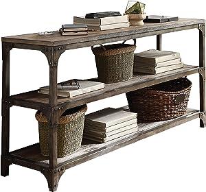 "Acme Furniture 72685 Gorden 60"" Server, Weathered Oak Antique Silver"