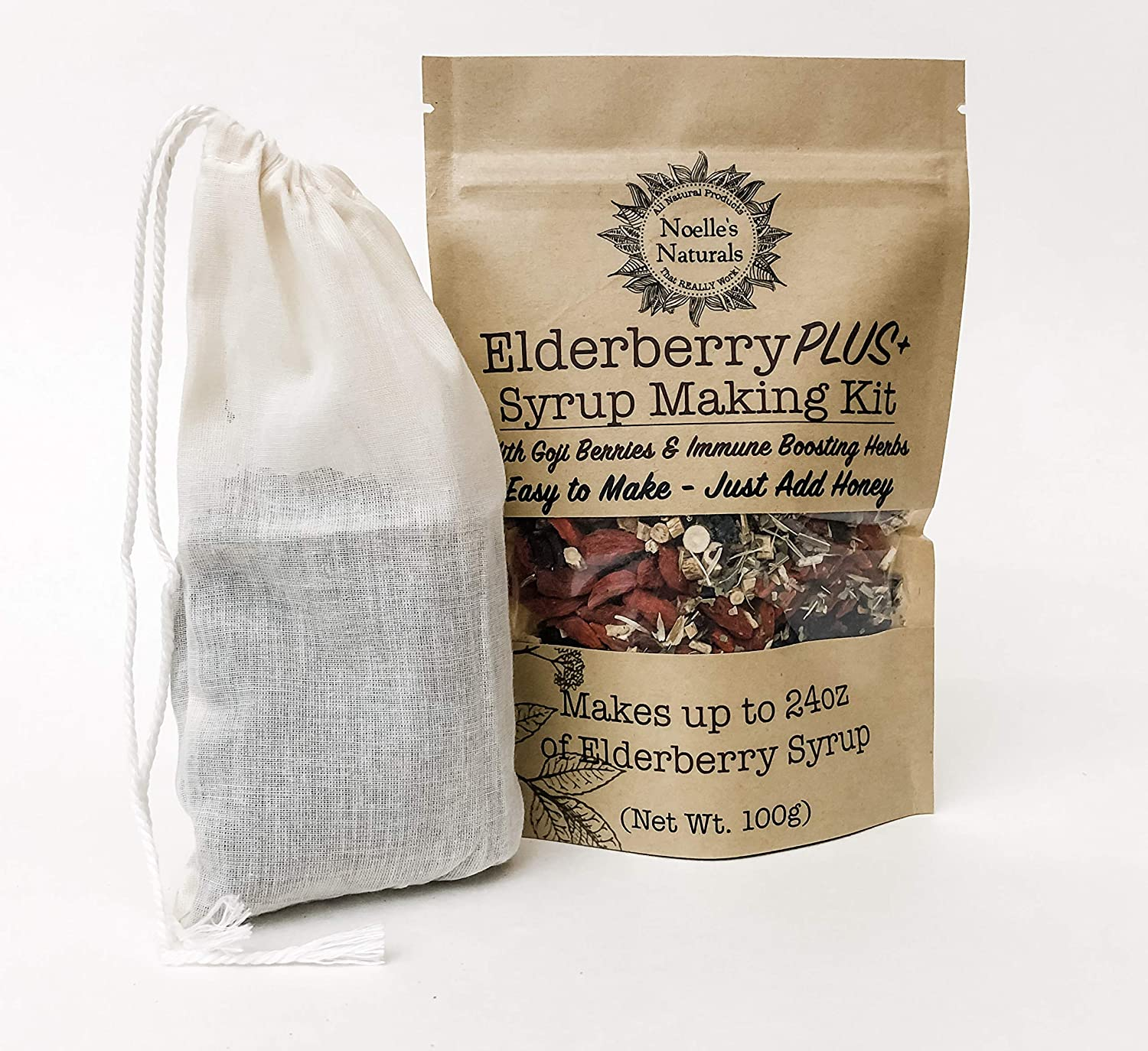 Elderberry Plus+ Syrup Making Max 61% OFF Kit - Just O Add 24oz Portland Mall Your Makes