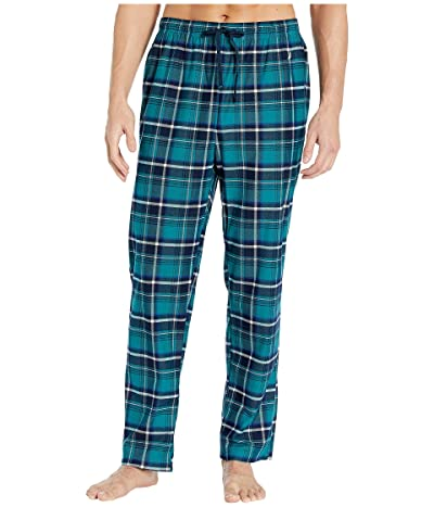 Nautica Plaid Cozy Fleece Pajama Pants (Spruce Green) Men