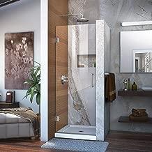 DreamLine Unidoor 24 in. W x 72 in. H Frameless Hinged Shower Door in Chrome, SHDR-20247210F-01