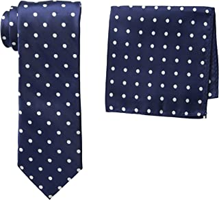 Men's Satin Dot Tie Set