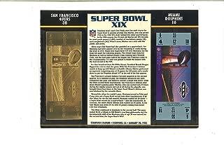 Super Bowl XIX Golden Ticket - San Francisco 49ers vs Miami Dolphins - January 20, 1985