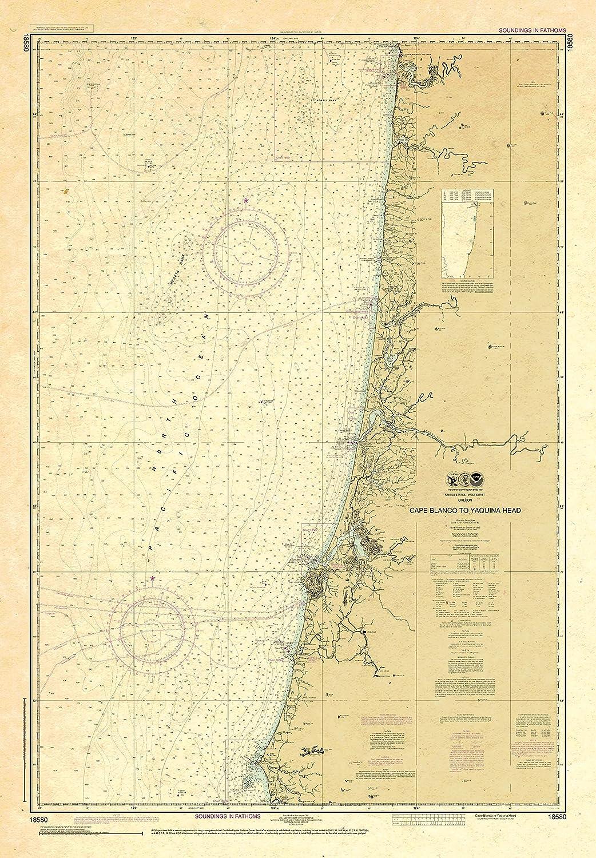 Paradise Cay Publications trust NOAA Chart Max 86% OFF Yaqui 18580: Cape Blanco to