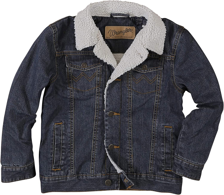 Wrangler boys Western Lined Denim Jacket