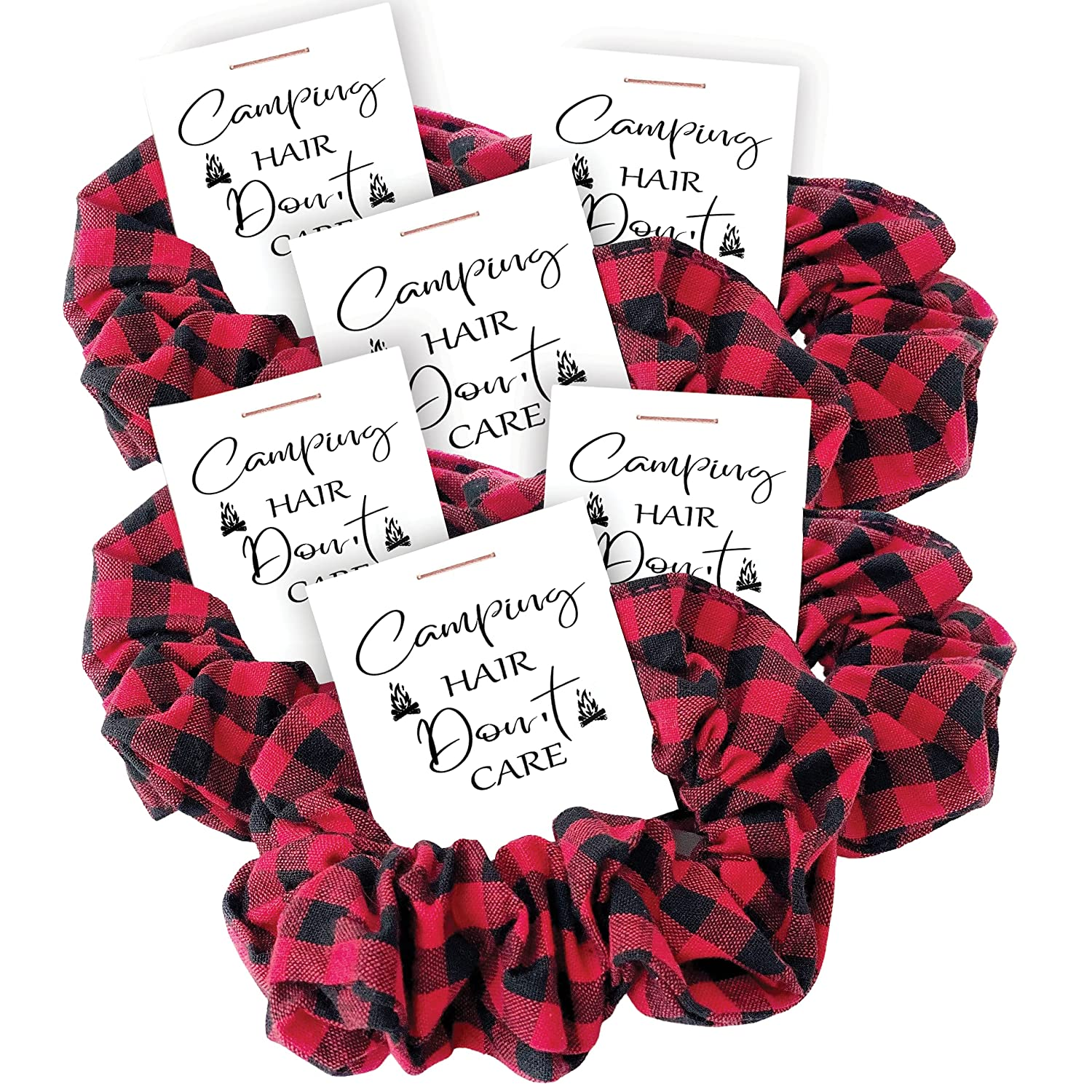 Camping Party Favors Selling and selling Buffalo Plaid Be super welcome Scrunchies Birthday Ba Hair