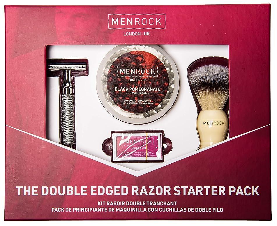 Men Rock Double Edged Razor Set – Luxury Shaving Set with Brush, Double Edge Razors, and Cream – Double Edge Razor Starter Kit for Men