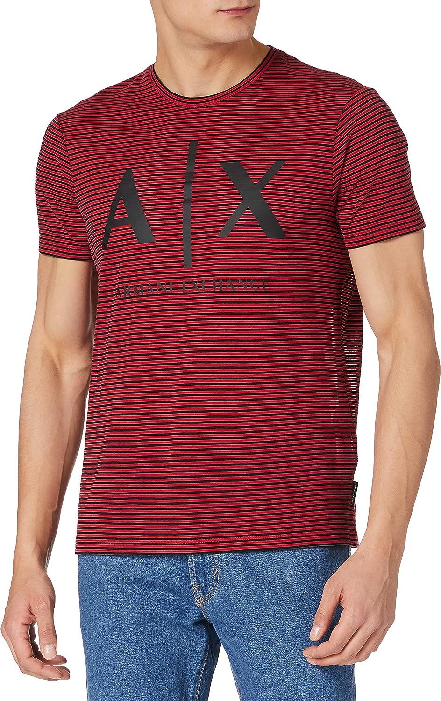 Armani Exchange AB.Red/Black Pullover Sweater Sudadera. para Hombre
