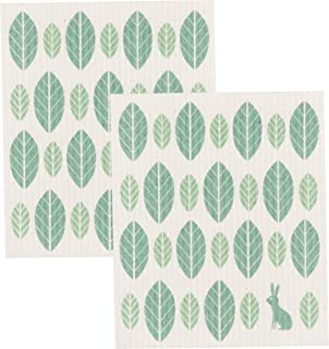 Now Designs Swedish Dishcloth, Set of Two, Set of 2, Planta 2 Count - 2000023aa