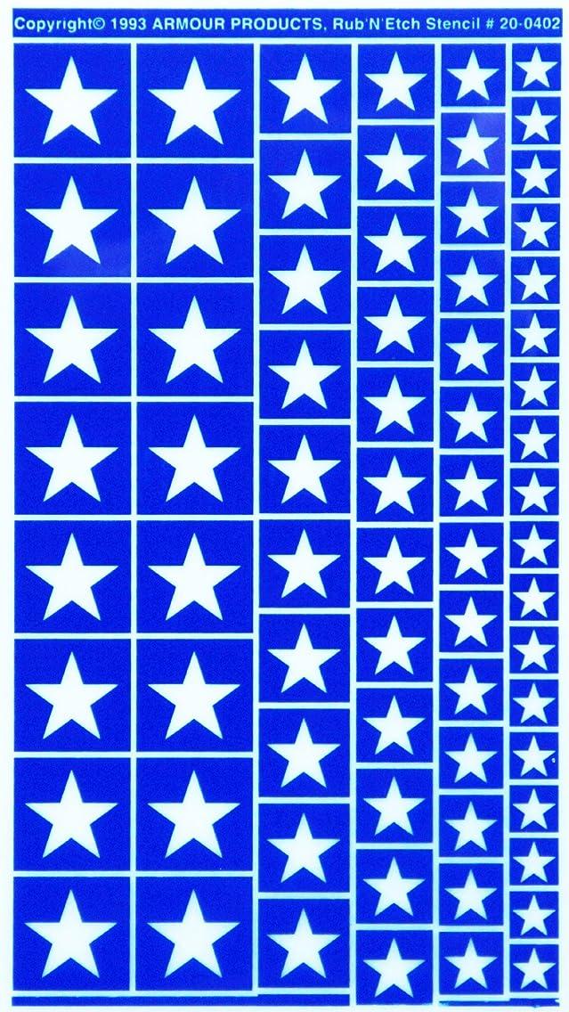 Armour Etch Stencil Rub N Etch Stencil, Stars, 5-Inch by 8-Inch