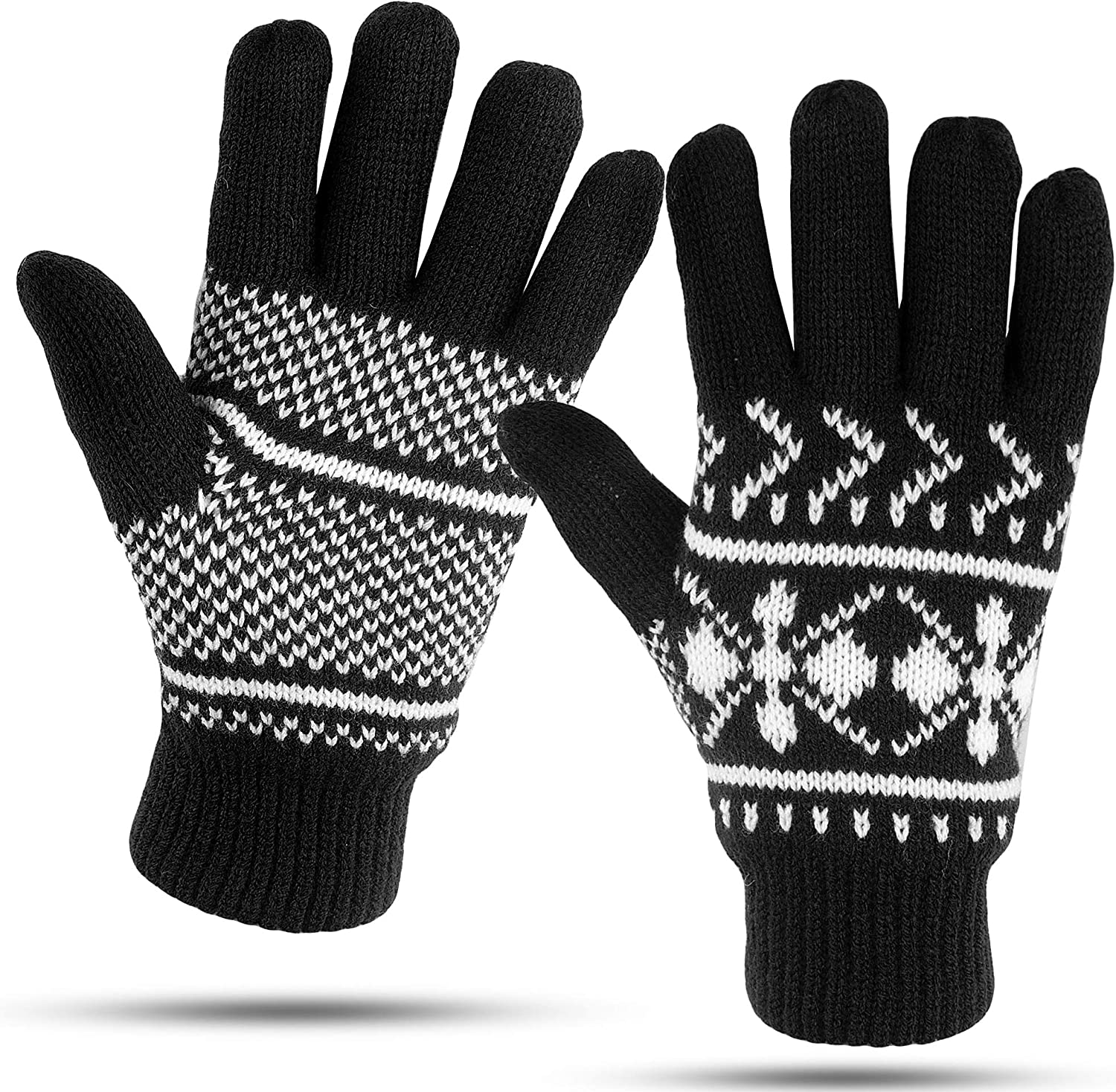 Luther Pike Seattle Knit Winter Gloves For Women Warm & Cozy, Comfortable: Thermal Insulation