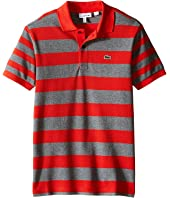 Lacoste Kids - Short Sleeve Bold Striped Polo (Infant/Toddler/Little Kids/Big Kids)