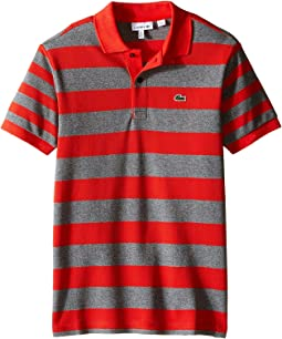 Short Sleeve Bold Striped Polo (Infant/Toddler/Little Kids/Big Kids)