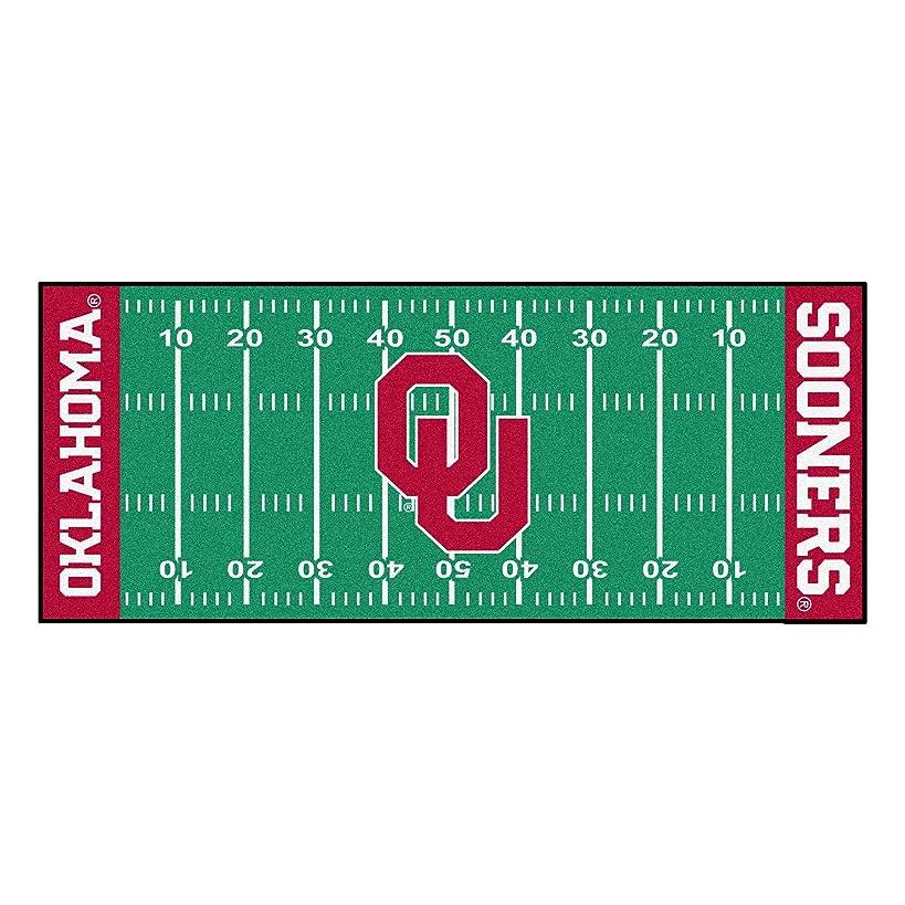 FANMATS NCAA University of Oklahoma Sooners Nylon Face Football Field Runner