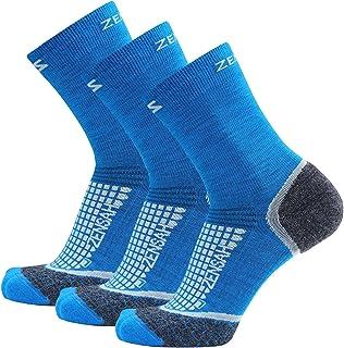 Zensah Unisex-Adult Crew Wool Running Socks 8566-P