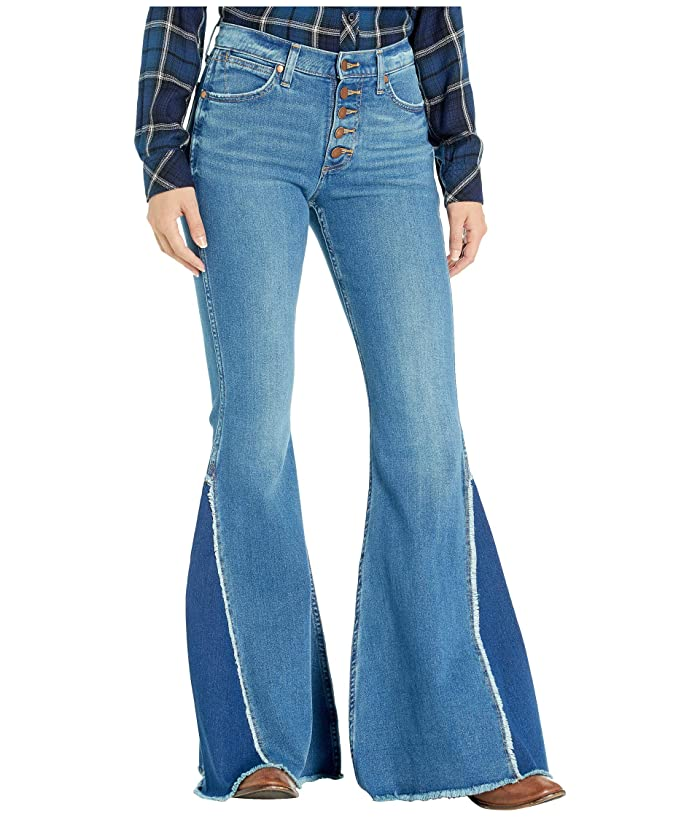 Vintage High Waisted Trousers, Sailor Pants, Jeans Wrangler Modern High-Rise Flare Pacific Womens Jeans $109.95 AT vintagedancer.com