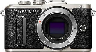 Olympus PEN E-PL8 pannkaka zoomkit – svart, Endast kropp, Svart, Black