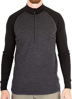 MERIWOOL Mens Base Layer 100% Merino Wool Midweight 250g Half Zip Sweater for Men