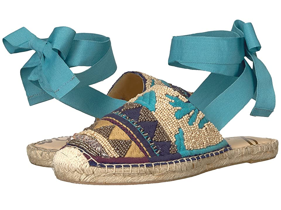 Sam Edelman Karolyn (Seablue/Blue Multi Embellished Canvas) Women