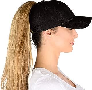 baseball hat with ponytail hole