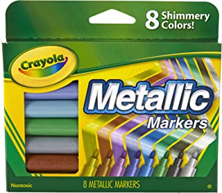 Crayola, Metallic Markers, 8 Steely Metallic Colours, Great for Card Making, Scrapbooking, Calligraphy, Christmas Craft, C...