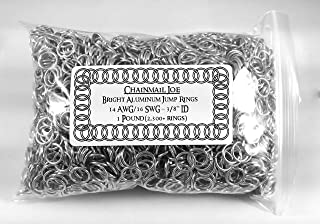 1 Pound Bright Aluminum Chainmail Jump Rings 16G 3/8