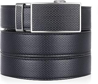 Marino Ratchet Leather Dress Belt For Men - Adjustable Click Belt with Automatic Sliding Buckle