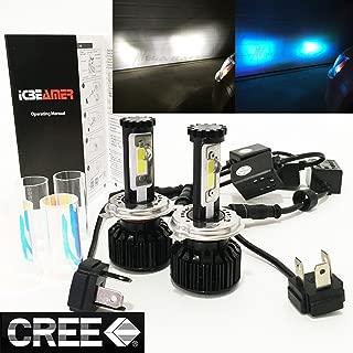 Mega Racer (2 Colors in 1 Set) H4 9003 HB2 30000K Blue 6000K White (High/Low Beam) CREE COB Xenon LED Kit 8000LM 80W USA