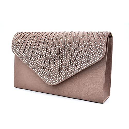 e73162c92c5 Nodykka Women Evening Envelope Handbag Party Bridal Clutch Purse Shoulder  Cross Body Bag