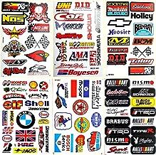 Best4Buy Compatible for Car Auto Truck Automotive Accessories Sponsor ATV Drag Racing Pack 6 vinyl D6023 decals stickers