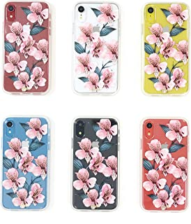 Sonix Tiger Lily (Pink Flowers) Case for iPhone XR [Military Drop Test Certified] Women's Protective Pink Flower Clear Case for Apple iPhone XR