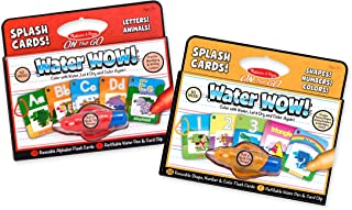 Melissa & Doug On the Go Water Wow! Splash Cards 2-Pack, Alphabet, Numbers (52 Reusable Water-Reveal Flash Cards, Great Gift for Girls and Boys - Best for 3, 4, 5, 6 and 7 Year Olds)
