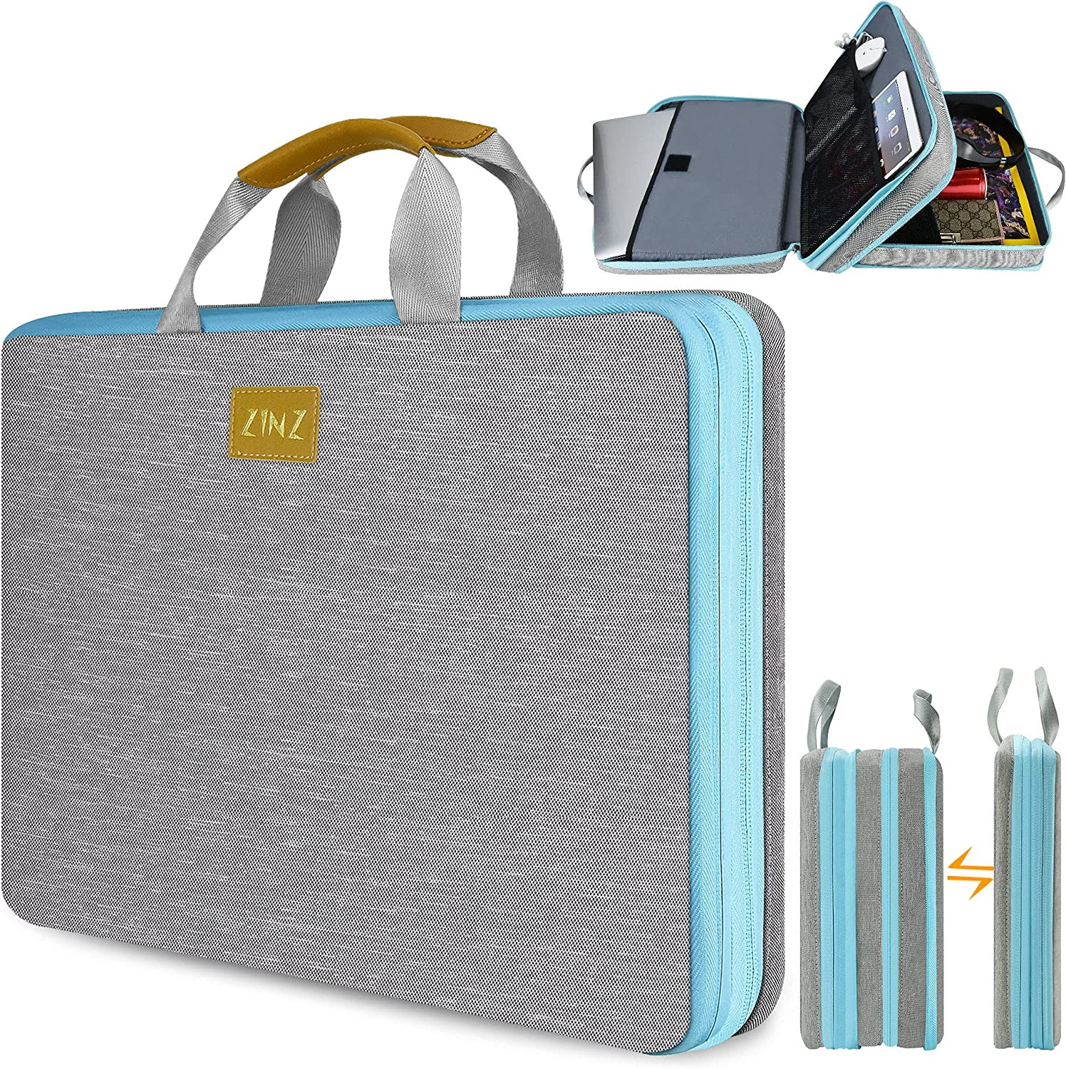 ZINZ Slim & Expandable Laptop Sleeve 15 15.6 16 Inch Case Bag for Popular 15