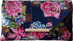 Jessica McClintock - Riley Floral Velvet Envelope Clutch