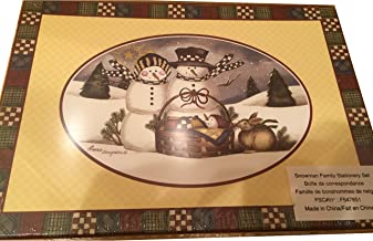 Laurie Korsgaden Watercolor Stationary Set Country Winter Snowman