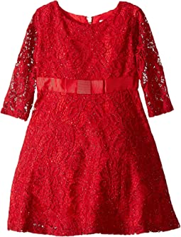 Sequin Lace Dress (Toddler/Little Kids)