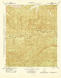 California Maps - 1944 Topatopa Mountains, CA USGS Historical Topographic Map - Cartography Wall Art - 35in x 44in