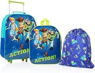 Toy Story 4 Mochilas Escolares Juveniles con Forky, Woody, Buzz Y Bo Peep | Mochila De Cuerda Infantil | Bolsa De Viaje para Niños | Mochila Pequeña Niños | Juego De Viaje De 3 Piezas