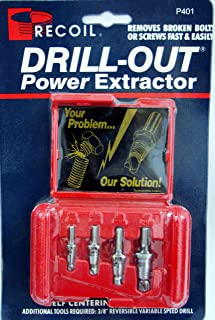 Recoil P401 Drill Out Power Extractor Damaged Screw Remover Broken Bolt Easy Out