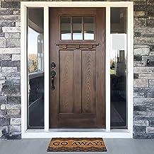 "Achim Home Furnishings PCM1830GA6 Printed Coir Door Mat, 18"" x 30"", Go Away, Multi"