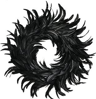 Best black feather wreath Reviews