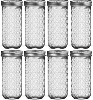 Ball Regular Mouth Mason Jars 12 oz [8 Pack] Ball Jelly Jars with Lids - For Canning, Fermenting, Conserving Syrups, Sauce...