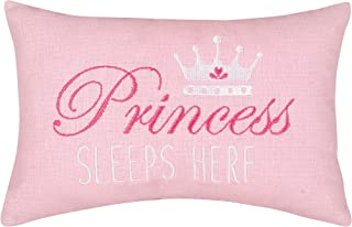 C&F Home Princess Sleeps Here Pink Graphic Embroidered Novelty Pillow 6