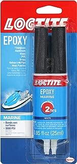 Loctite 1919324 Marine Epoxy 0.85-Fluid Ounce Syringe (1405604), 1 Pack, White