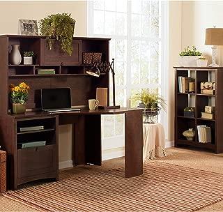 Bush Furniture Buena Vista Corner Desk with Hutch, Madison Cherry