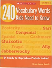 Scholastic 9780545468664 240 Vocabulary Words Kids Need to Know, Grade 6, 0.19