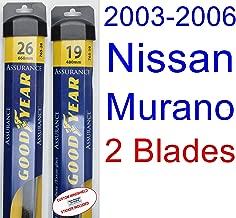 2003-2006 Nissan Murano Replacement Wiper Blade Set/Kit (Set of 2 Blades) (Goodyear Wiper Blades-Assurance) (2004,2005)