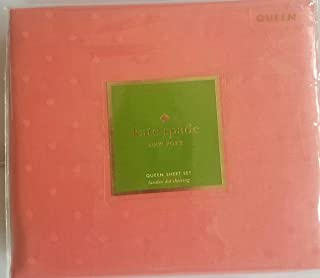 Kate Spade Larabee Dot Queen Sheet Set, Coral