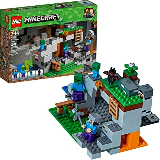 LEGO Minecraft The Zombie Cave 21141 Building Kit with...