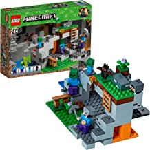 LEGO Minecraft The Zombie Cave 21141 Building Kit with Popular Minecraft Characters Steve..